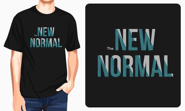 Das neue normale grafik-t-shirt