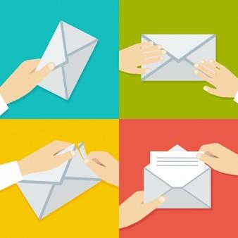 Das öffnen eines brief prozessdesign