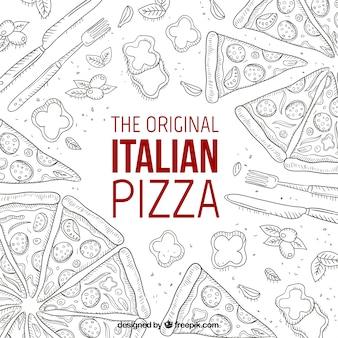 Das original italienische pizza