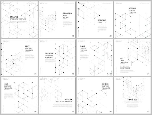 Das quadratische format deckt designvorlagen ab