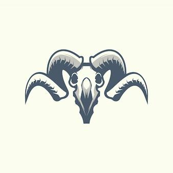 Das ram-schädel-symbol