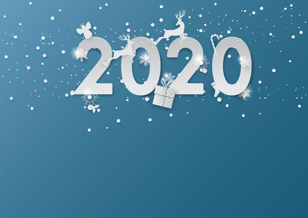 Das ren springend im hintergrund 2020