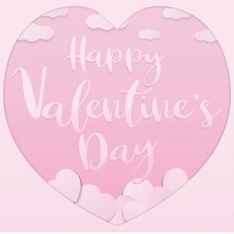 Das rosa valentinsgrußpapier schnitt für valentinstaginhalt.