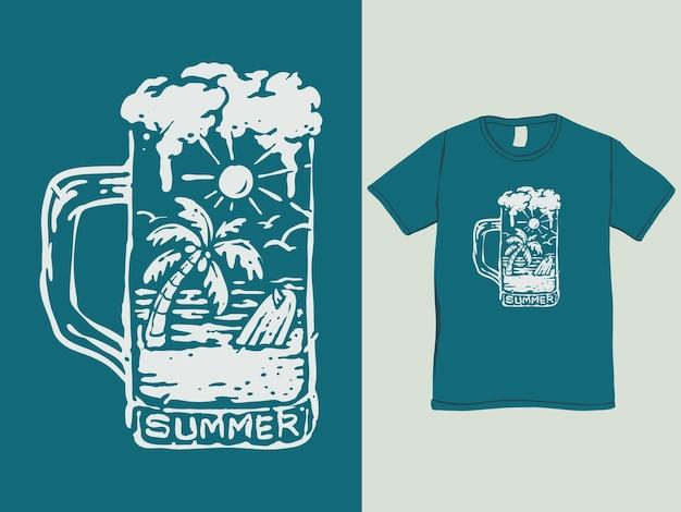 Das sommer-vibes-strand-t-shirt-design