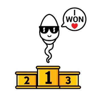 Das sperma ist ein champion gewinner