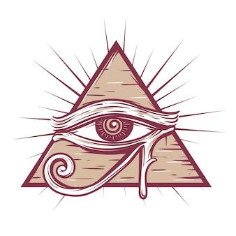 Das symbol des auges gottes