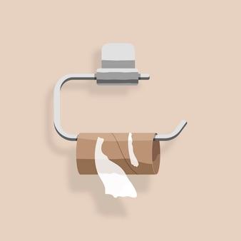 Das toilettenpapierelement ist ausgegangen