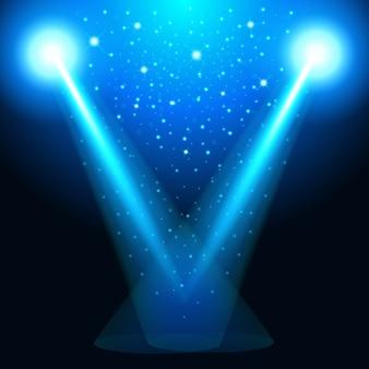Das von der lampe ausgehende licht, die lichtquelle