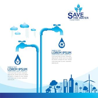 Das wasser retten wasser ist leben