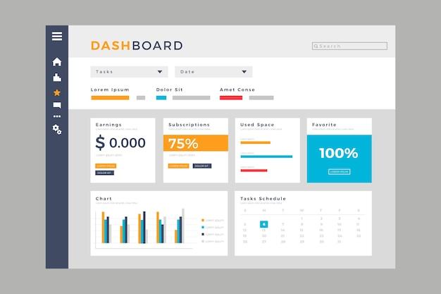 Dashboard-benutzerpanel-vorlage