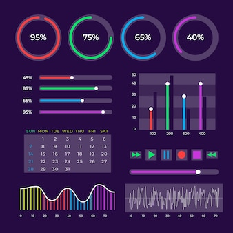 Dashboard-elementsammlung