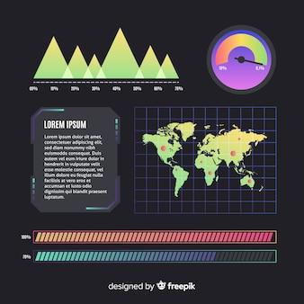 Dashboard infografik mit karte