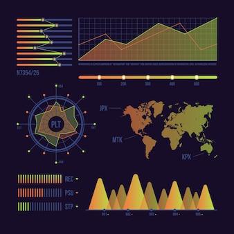 Dashboard mit statistischen daten zur welt