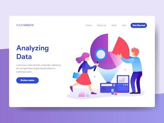 Data Analyst Illustration für die Homepage