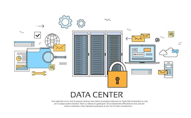 Data center hosting server computer geräteinformationen