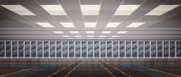Data center room hosting server computerinformationendatenbank technologie zum synchronisieren