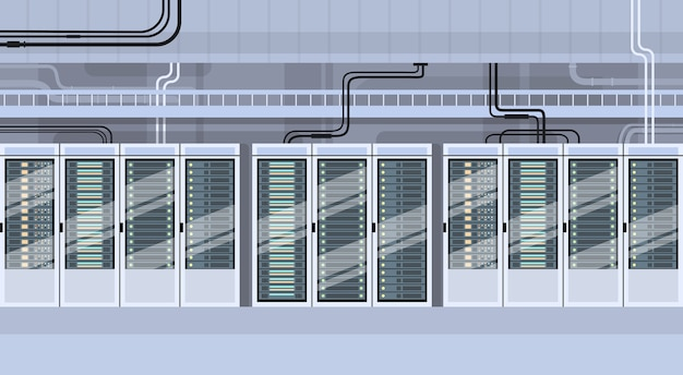 Datacenter hosting-server-datenbank für technische räume