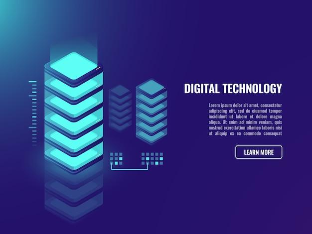 Datacenter-konzept, vernetzung, website- und web-anwendungsentwicklung