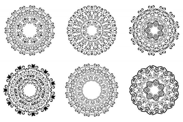Datei des klassischen ornamentrahmens, weinleserandsatz.