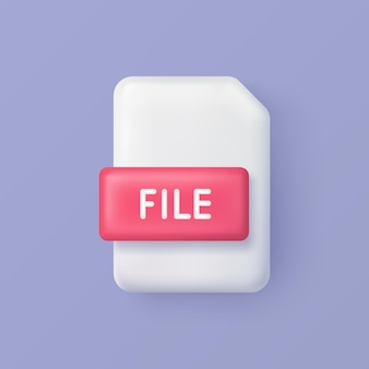 Datei oder dokument 3d vektorsymbol