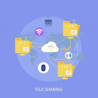 Datei-sharing-design-konzept