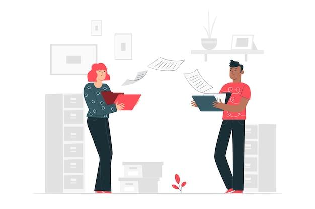 Dateiübertragung konzept illustration