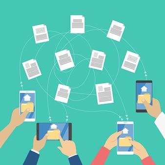 Dateiübertragung zwischen den digitalen geräten