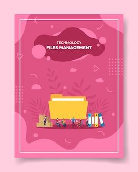 Dateiverwaltung für vorlage von bannern, flyer, buchcover, magazin