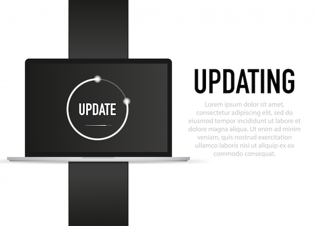 Daten aktualisieren oder synchronisieren mit bar-prozess update auf laptop