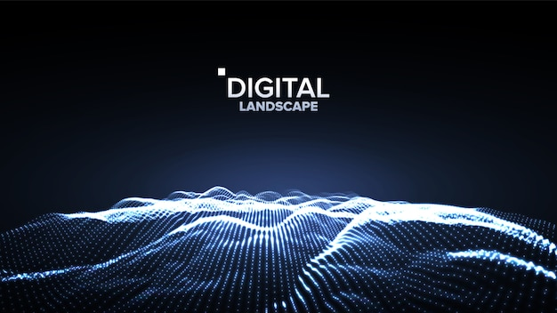Daten dunkle landschaft