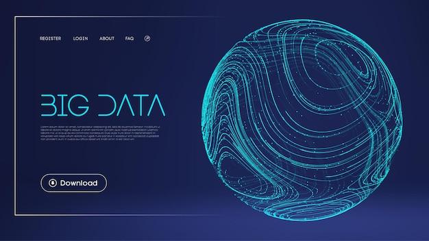 Daten schützen digitale illustration abstrakte kugel energiefeld technologie barriere blauer hintergrund