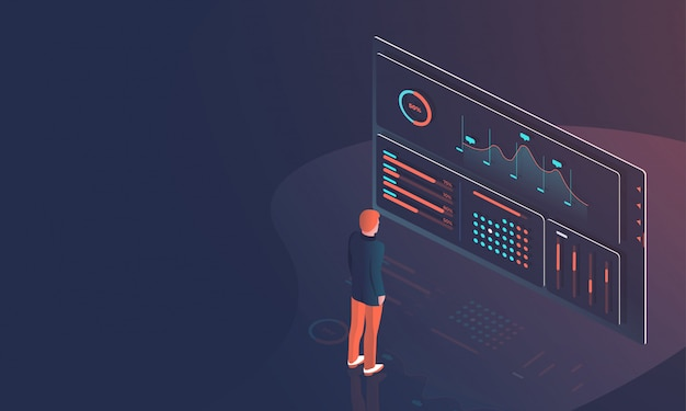 Datenanalyse-designkonzept