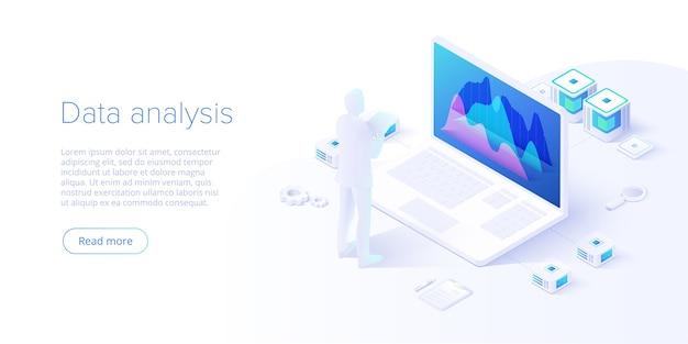 Datenanalyse im isometrischen design