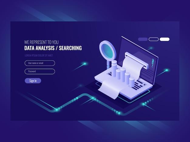 Datenanalyse, infromationsrecherche, datenzentrumabfrage, suchmaschinenoptimierung