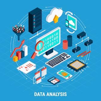 Datenanalyse-isometrie-set