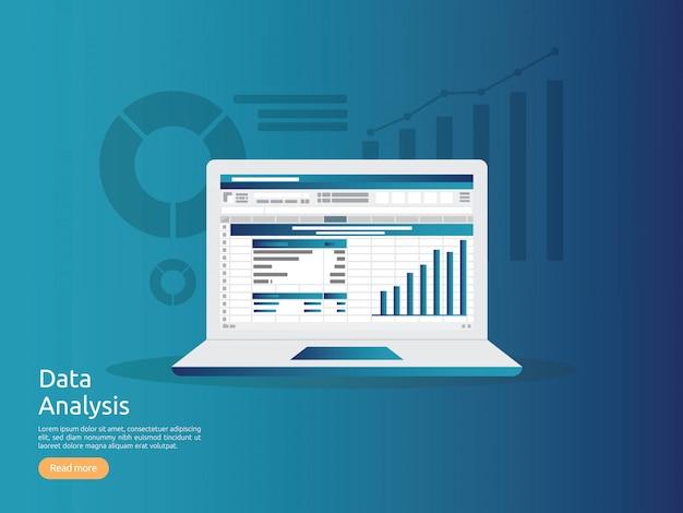 Datenanalyse-kalkulationstabelle