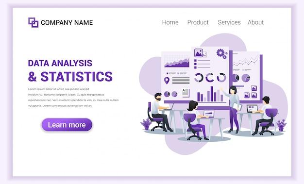 Datenanalyse und statistik für zielseitenvorlage.