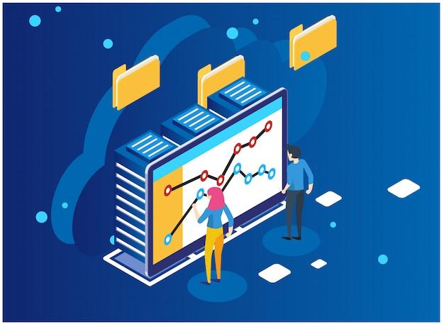 Datenanalyse- und statistikkonzept.