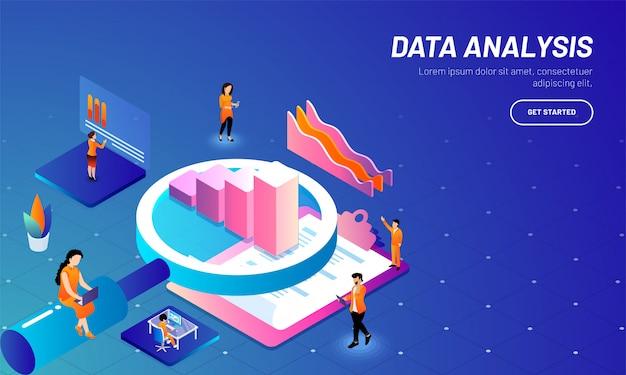 Datenanalysekonzept basierte web-vorlage.