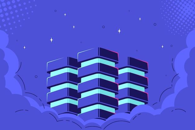 Datenbank in clouds, konzept der speicherung und verarbeitung von big data