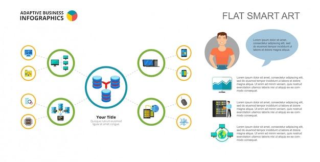 Datenbank-konzept mind map slide-vorlage