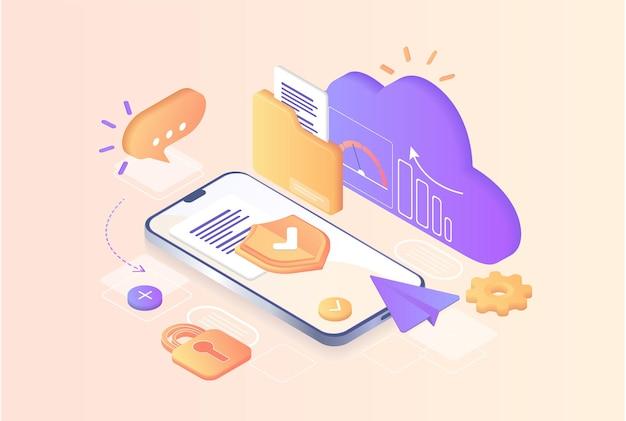 Datenbank mit cloud-server datensatz-prozessklassifizierungsdatenbankunternehmensprozessentwicklung