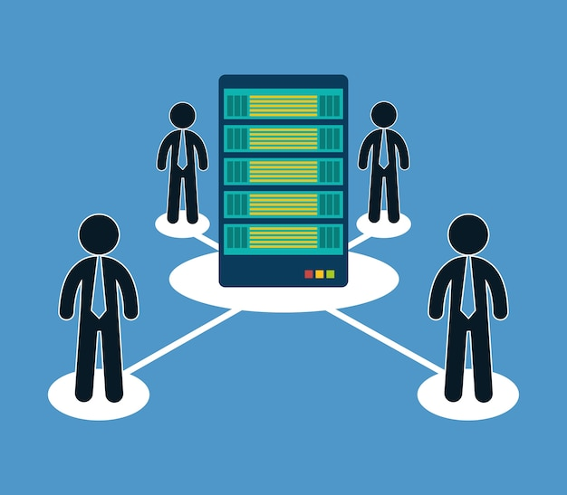 Datenbank-optimierung menschen hosting-symbol