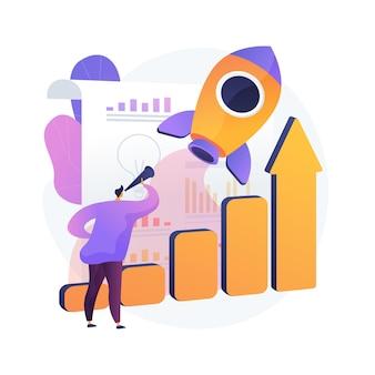 Datengesteuerte marketing abstrakte konzeptillustration