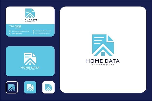 Datenhaus-logo-design und visitenkarten