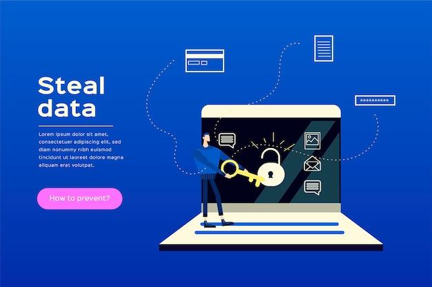 Datenillustrationskonzept stehlen