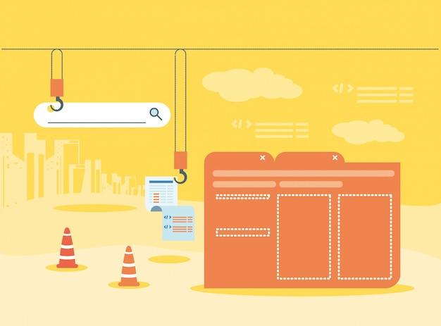Datenordner mit webseite im aufbau