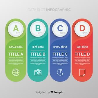 Datenschlitz-infografik
