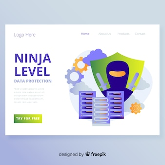 Datenschutz landingpage design