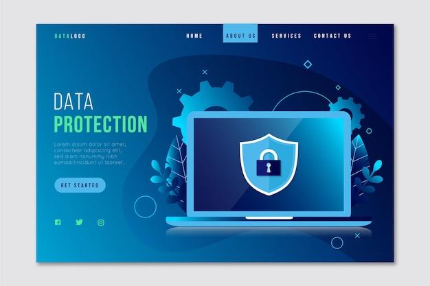 Datenschutz-landingpage-konzept